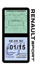 Porte vignette assurance RENAULT SPORT double étui voiture Stickers auto rétro