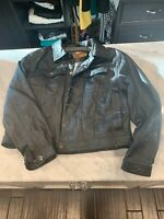 Harley Davidson EUC Leather Jacket Coat Large Women's