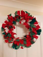 Handmade Christmas Rag Wreath