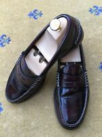 Gucci Mens Shoes Brown Leather Penny Loafer UK 8.5 US 9.5 EU 42.5 Polished