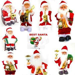 Electric Christmas Xmas Santa Claus Music Figurine Party Décor Gift UK