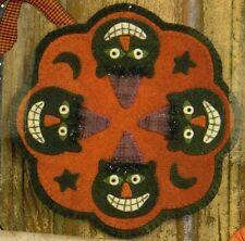Spooky Cat Candle Mat Halloween Wool Quilt Pattern Buttermilk Basin