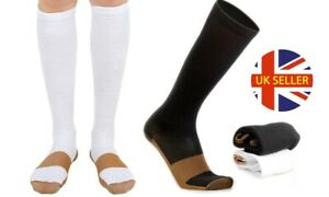 Unisex Plantar Fasciitis Copper Infused Compression Socks Swelling Vein Relief