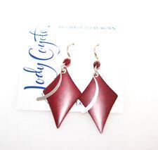 Jody Coyote Red Patina Brass Drop Earrings, Retail $55
