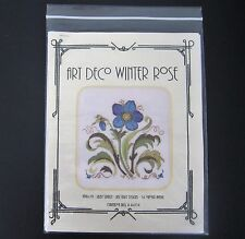 Just Libby Designs Needlepoint Pattern Art Deco Winter Rose 2012 Instr Only