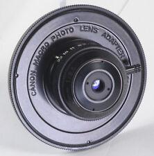 MINT Canon 20mm f/3.5 Macro Lens (No Bellows) w/ FD Mount Lens Adapter