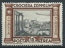 1933 REGNO POSTA AEREA ZEPPELIN 15 LIRE MNH ** - T61-3