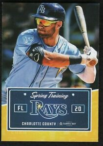 2020 Tampa Bay Rays Spring Training Pocket Schedule Featuring Kevin Kiermaier