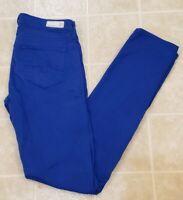 AG Adriano Goldschmied Size 24 R Denim Blue Jean The Stilt Cigarette Leg Skinny