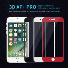 NILLKIN 3D AP+ Pro Edge Shatterproof Full Screen Tempered Glass for iPhone 7 6