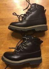 TKS Child Black Mid Top Slip Resistant Boots Size US 11 EU 28.5 MX 18 UK 10.5