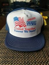 Vintage Desert Storm Mesh Trucker Snapback Hat Made In USA Snap Back