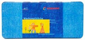 16x Stockmar Wachsfarbblock  Wachsmalblöcke wasserfest Bienenwachs Wachsstifte