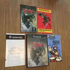 Legend of Zelda Twilight Princess ALL INSERTS!!! SCRATCH FREE! GameCube COMPLETE