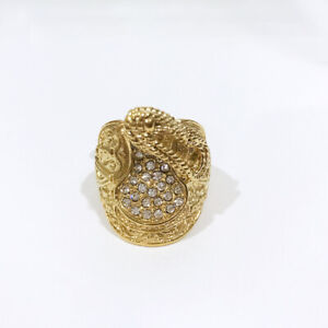 Crystallised Saddle Ring Gold & Silver Ring18K - Available In All Sizes