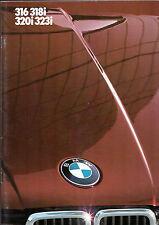 BMW 3-Series E30 1983 UK Market Sales Brochure 316 318i 320i 323i