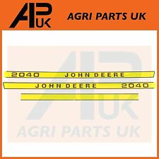 John Deere 2040 Tracteur Capuche Bonnet Decal Sticker Set Kit Emblème transferts