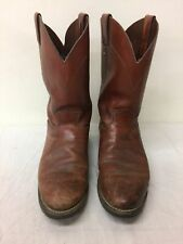 Men's Justin Brown Leather Western Boots Size 10D