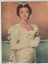 "VINTAGE 1950's MYRNA LOY INSCRIBED COLOR MOUNTED MAGAZINE PHOTO   8.5"" x 11"""