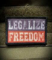 Legalize Freedom Morale Patch Funny Tactical Military Army USA
