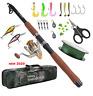 NEW Fishing Rod Combo And Reel Full Kit Fishing Pole Set Spinning Fishing Reel