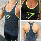 Men Gym Muscle Sleeveless Tank Top T-shirt Bodybuilding Workout Fitness Vest New