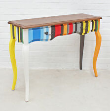 Antique Design Retro Multi Colour Natural Timber Wood Console Table 2 Drawers