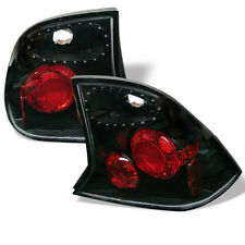 Ford 00-04 Focus 4Dr Sedan Black Euro Style Tail Brake Lights LX SE ZTS ZTW S2