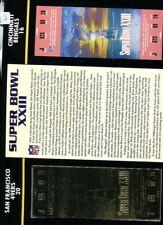 CINCINNATI BENGALS SAN FRANCISCO 49ERS 1989 22K GOLD SUPER BOWL TICKET