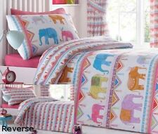 Kids Fun Bedding Carnival Elephants & Circus Tents Single Bed Duvet Cover Set