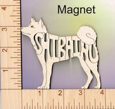 Shiba Inu Dog laser cut and engraved wood Magnet Great Gift Idea