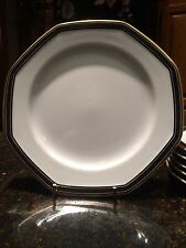 Christopher Stuart BLACK DRESS Set of 6 Salad or Dessert Plates