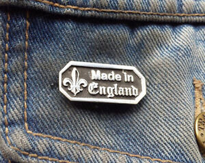 Made in England Pewter Pin Badge
