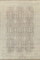 Traditional Oushak Oriental Area Rug Geometric Hand-knotted Wool 8'x9' Carpet