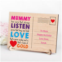 PERSONALISED Mummy Mum Nanny Nanna Mam Postcard Birthday Keepsake Gifts for Her