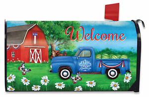Sunshine Barn Summer Magnetic Mailbox Cover Farm Standard Briarwood Lane
