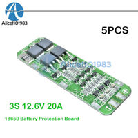 5PCS 3S 20A  Li-ion 12.6V 18650 Lithium Battery Charger PCB Protection Board
