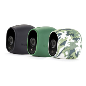 Protective Silicone Skins for Arlo Wireless Camera Green Hiding Covers 3 Pack