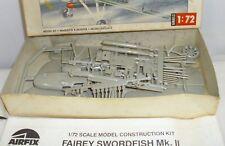 AIRFIX BRITISH SWORDFISH BI-PLANE AIRPLANE MODEL KIT 1/72th BOXED
