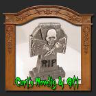 GRAVEYARD TOMBSTONE CELTIC SKELETON Halloween Decor New