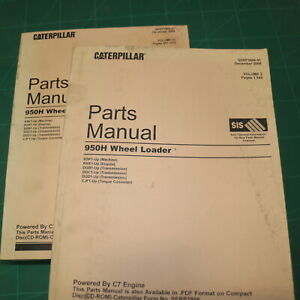 CAT Caterpillar 950H Wheel Loader Parts Manual Book Catalog spare index list K5K