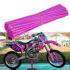 72pcs Universal Wheel Spoke Wraps Motorcycle Cover Pipe Skins For Kawasaki Honda