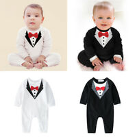 Newborn Infant Baby Boys Outfits Sets Jumpsuit Romper Bodysuit Gentleman Clothes