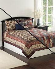 Bedspread set-Patchwork Quilts-6PC set-Double/Queen-Works double side-Reversible