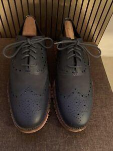 Cole Haan ZeroGrand Wingtip Oxfords Shoes Blazer Blue SZ 11.5 Men's C12974. Mint