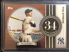 2017 Topps Joe DiMaggio New York Yankees The Streak Card #JD34