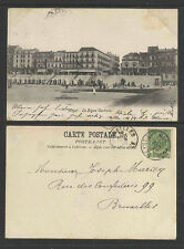 1904 HEYST BELGIUM LA DIGUE CENTRALE UDB UNDIVIDED BACK POSTCARD