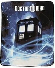 Doctor Who Dr Police Call Box TARDIS Gallifrey Plush Fleece Throw Blanket BBC TV