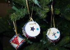 (3) <FINISHED> WALCO Holiday Ornament Kit :RED WHITE & BLUE CHRISTMAS DRUMS