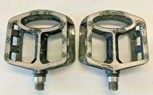 "Wellgo MG1 magnesium MTB flat, platform, pedals, sealed bearings, 9/16"" retro"